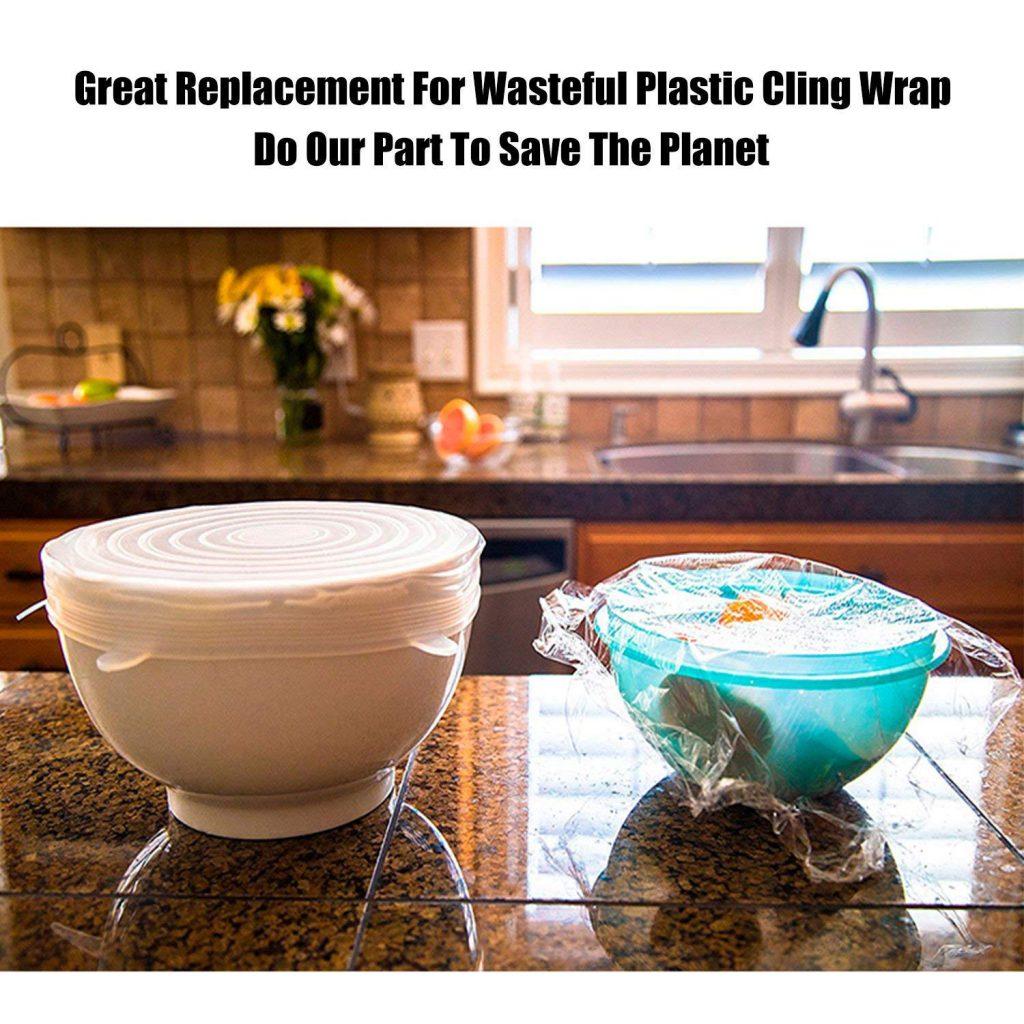 Tapas de silicona reutilizable para alimentos (Estados Unidos)