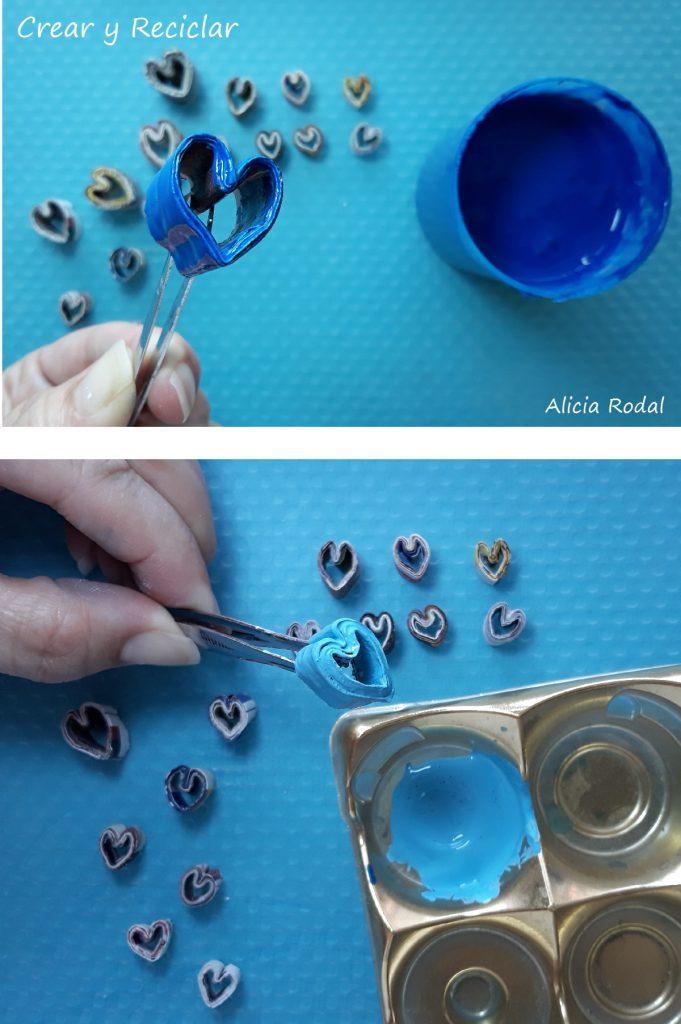 Decorar marco para fotos con corazones de papel IDEAS 14 febrero SAN VALENTIN
