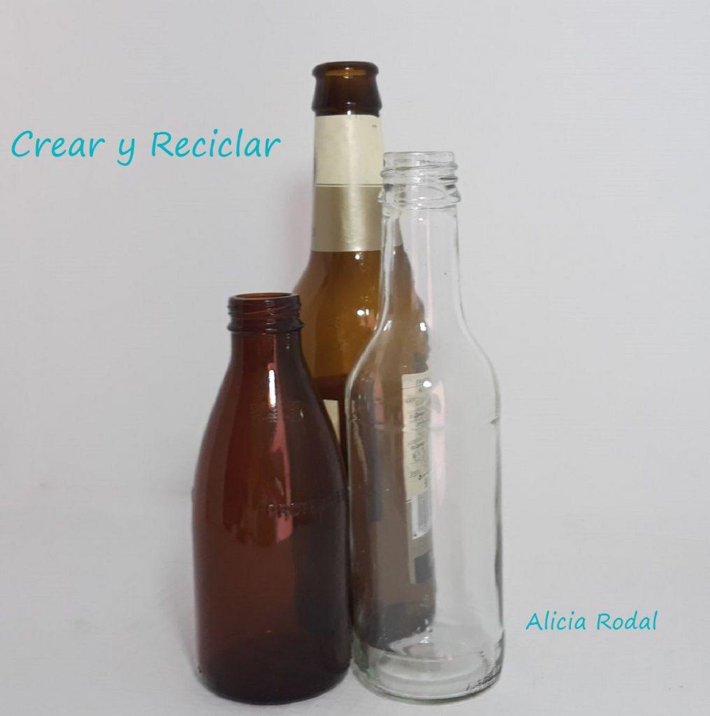 Cómo decorar envases, frascos o botellas de vidrio, de una manera fácil y divertida, para hacer en familia y con materiales reciclados.