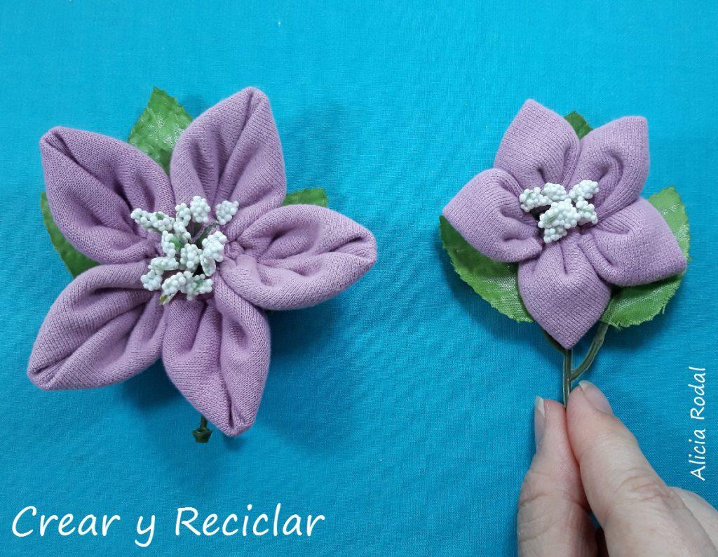 Como hacer flores con retazos o retales de tela. Ideas para decorar con reciclaje