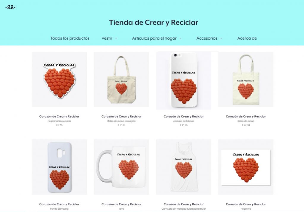 Tienda de productos Crear y Reciclar