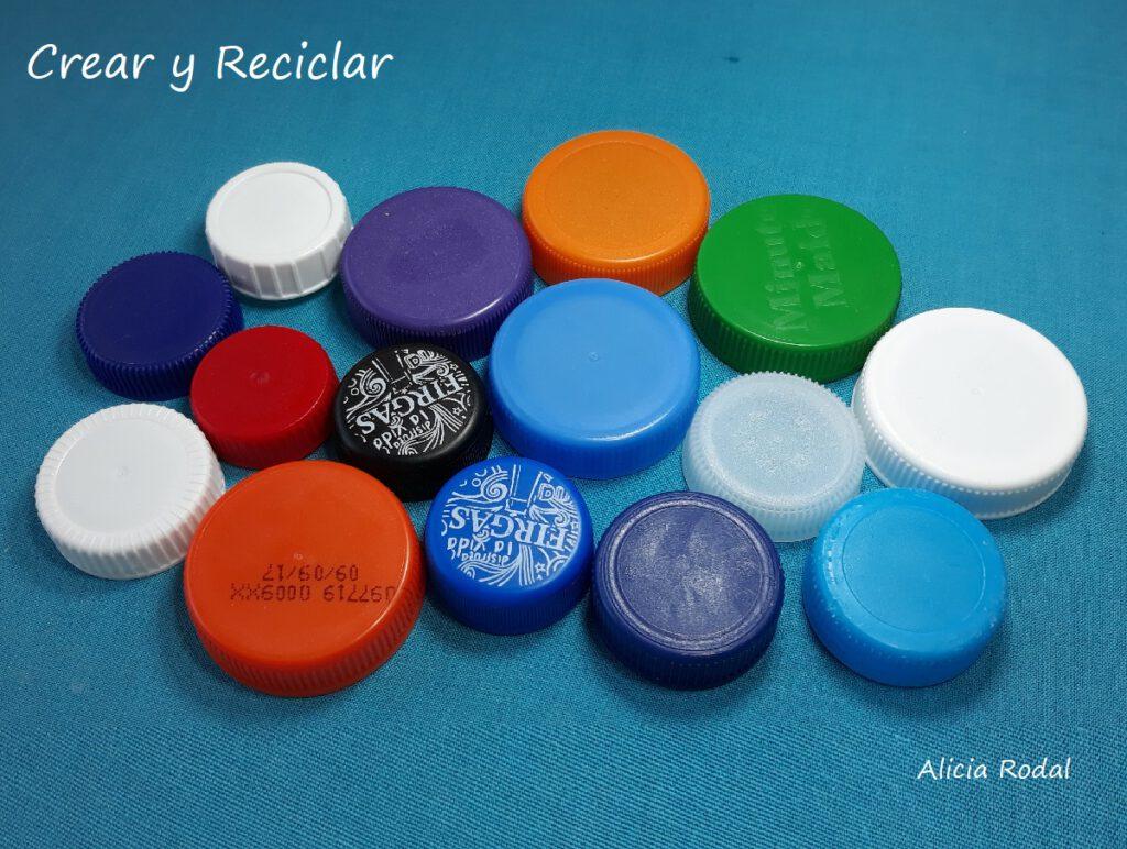 Como hacer una CESTA con tapas de plástico DIY. Reciclaje creativo. Ideas creativas
