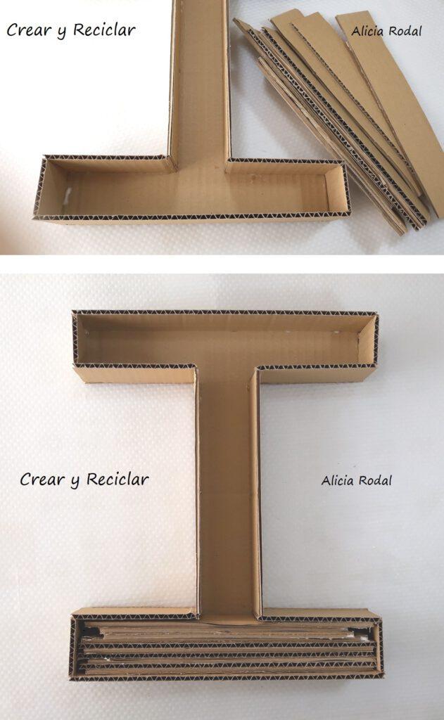 En este tutorial te muestro una idea de cómo hacer letras de cartón en 3D y decorarlas con CD´s o DVD viejos o dañados. Reciclaje creativo Diy