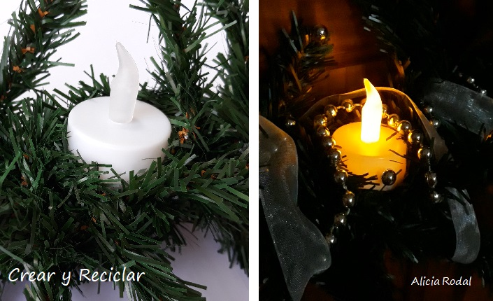 Cómo hacer una corona de Navidad con materiales reciclados Muy fácil. Diy Reciclaje