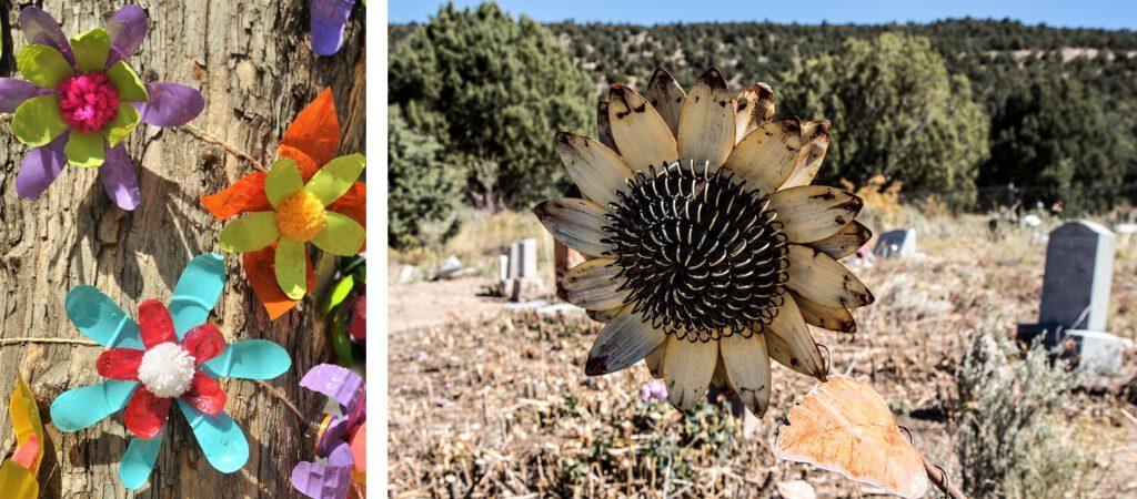 Además de las flores, hay muchas opciones para decorar y embellecer las tumbas, y podemos hacerlas con elementos reciclados.