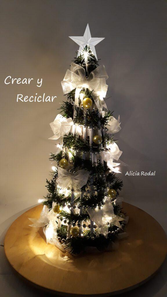 En este tutorial te muestro cómo hacer un árbol de Navidad con papel periódico o revistas. Esta manualidad es ideal para la decoración de espacios pequeños. Esta linda miniatura sirve para decorar cualquier rincón de tu hogar u oficina.