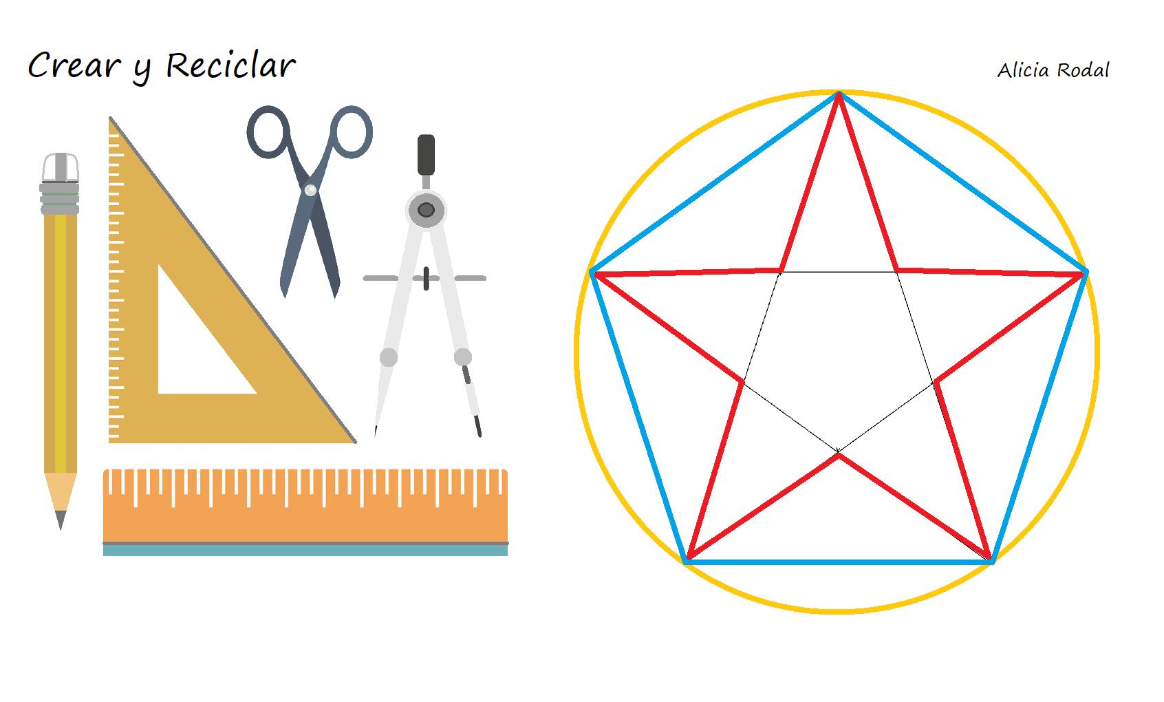 Cómo Dibujar Un Pentágono Y Una Estrella De 5 Puntas Crear Y Reciclar