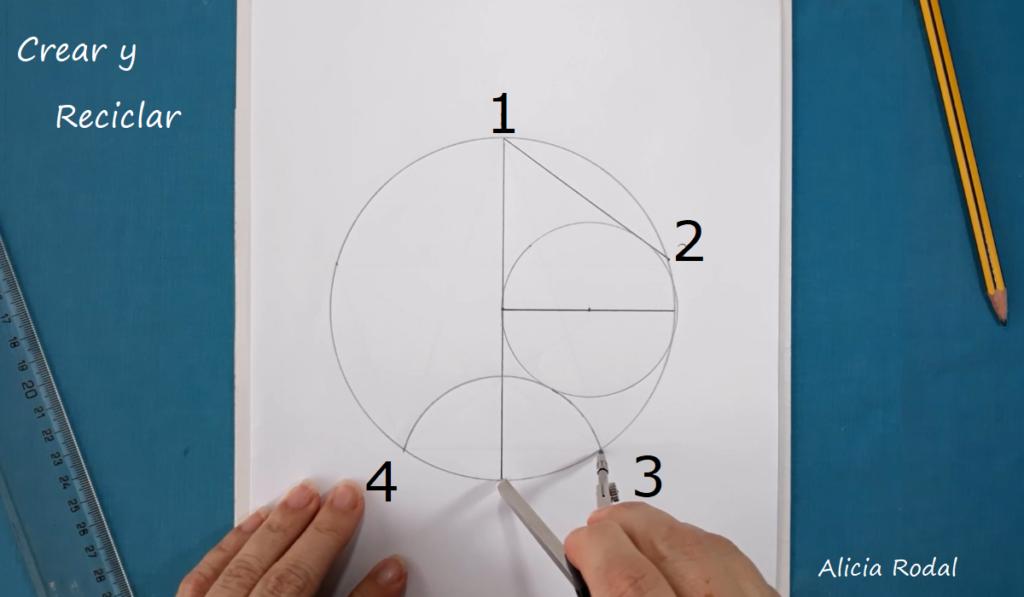 Como DIBUJAR un pentágono y estrella de 5 puntas PERFECTO. Pentágono inscrito en una circunferencia. Pentágono con compás. Estrella de 5 picos dentro de pentágono