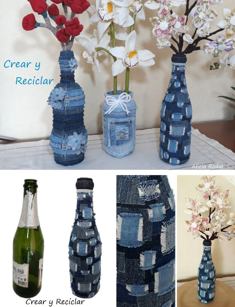 Cómo reciclar o reutilizar botellas de vidrio para hacer manualidades de decoración para nuestro hogar