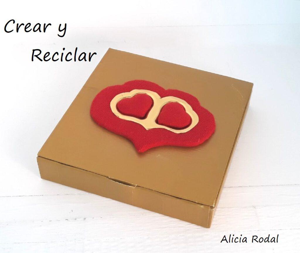 ideas de detalles para regalar en San Valentín. Es fácil y barato, porque reutilizamos materiales reciclados, y el resultado es hermoso.