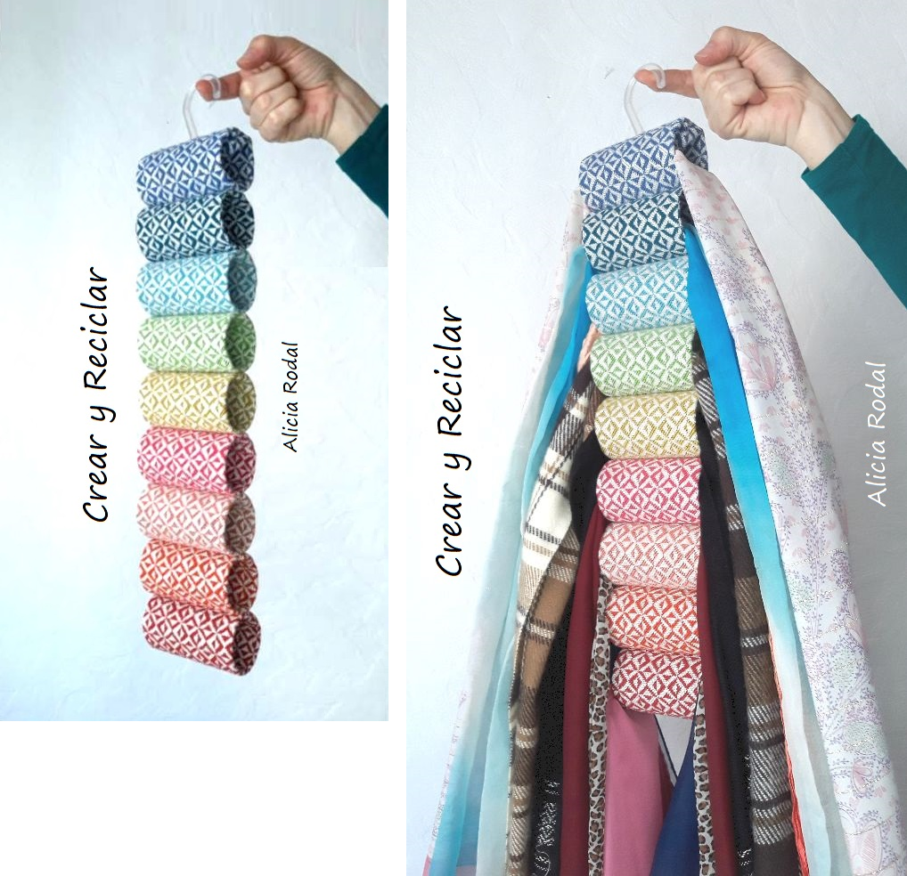 En este tutorial puedes ver como hacer un organizador vertical o Gancho, Colgador o Percha para tener tu ropa bien organizada y a mano. Diy.